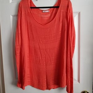 Long Sleeve Striped Top with Holes